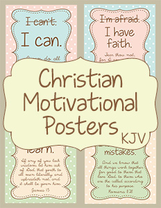 Christian Motivational Posters KJV