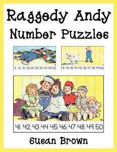 Raggedy Andy Number Puzzles