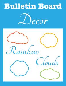 Bulletin Board Decor Rainbow Clouds cover Currclick