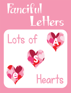 Fanciful Letters Lots of Hearts cover Currclick