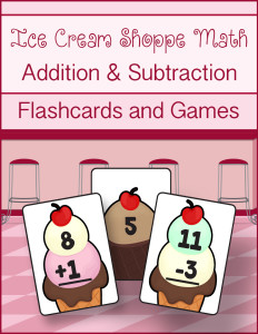 Ice Cream Shoppe Math Addition Subtraction cover 900w