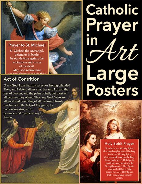 Catholic Prayer in Art Large Posters