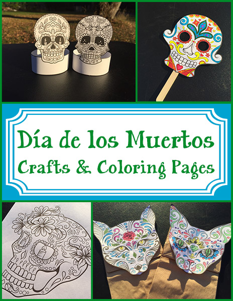 d a de los muertos crafts and coloring pages