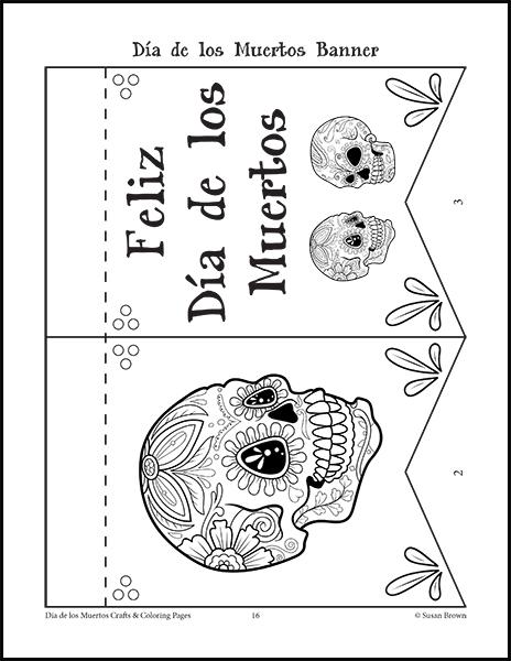 dia de los muertos crafts and coloring pages image 3 - De Los Muertos Coloring Pages