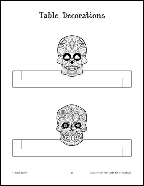 dia de los muertos printable coloring pages - free d a de los muertos coloring pages warm hearts