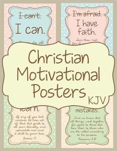 KJV Christian Motivational Posters cover 600h