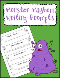Monster Mayhem Writing Prompts 600h