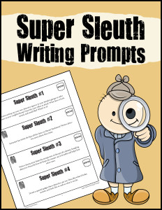 Super Sleuth Writing Prompts 600h