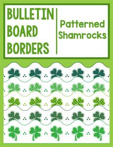 Bulletin Board Borders Patterned Shamrocks cover 600h