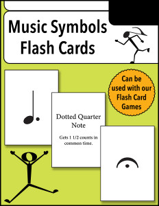 Music Symbols Flash Cards cover 600w