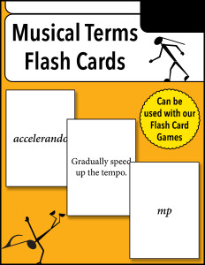 Musical Terms Flash Cards cover 600h