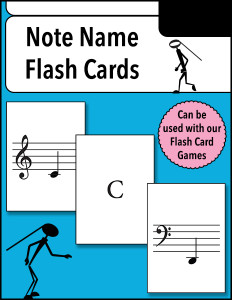 Note Name Flash Cards 600h