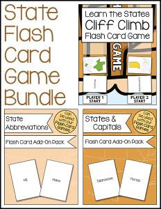 State Flash Card Game Bundle 600h