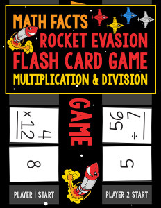 Math Facts Rocket Evasion Flash Card Game Multiplication Division 600h