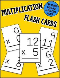 Multiplication Flash Cards cover 600h