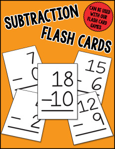 Subtraction Flash Cards cover 600h