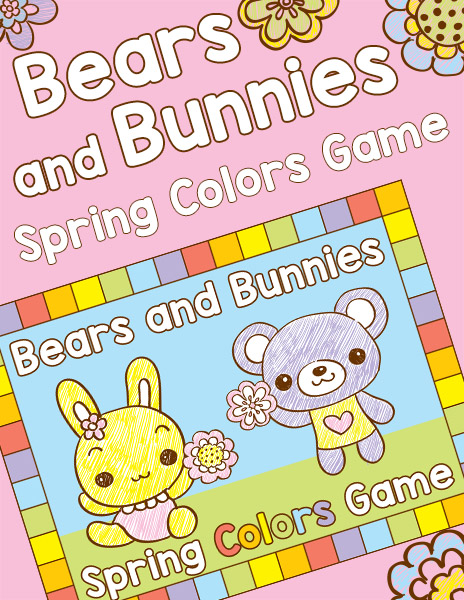 Bears and Bunnies Spring Colors Game Freebie