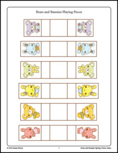 Bears and Bunnies Spring Colors Game image 3