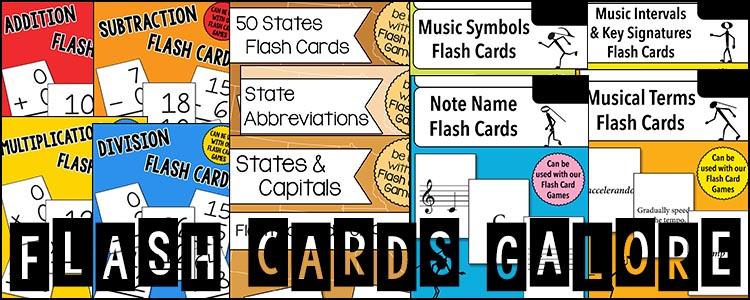 Flash Cards Galore