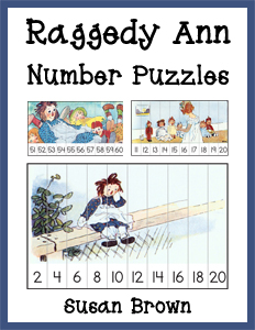 Raggedy Ann Number Puzzles