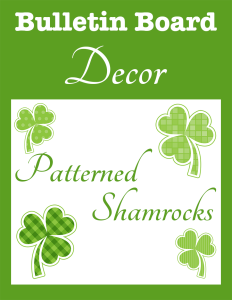 Bulletin Board Decor Patterned Shamrocks cover Currclick