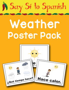 Say Si to Spanish Weather Poster Pack