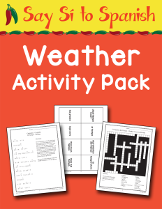 Spanish Weather Activity Pack