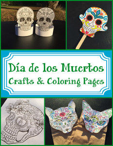 Dia de los Muertos Crafts and Coloring Pages 600h