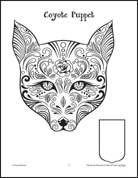dia de los muertos crafts and coloring pages image 2