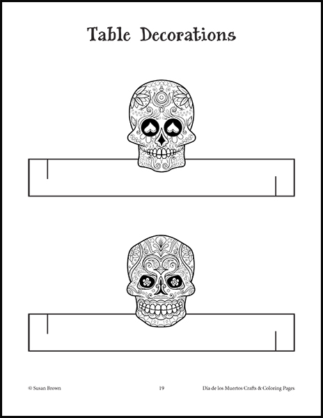 dia de los muertos crafts and coloring pages image 4 - Dia De Los Muertos Coloring Pages