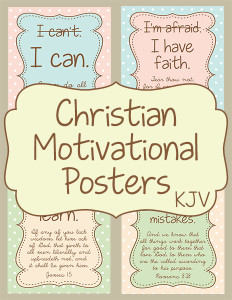 KJV Christian Motivational Posters cover 600h