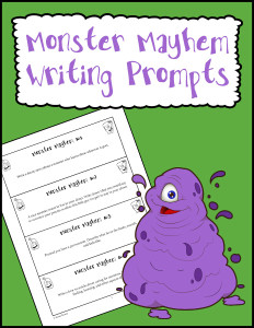 Monster Mayhem Writing Prompts 600h