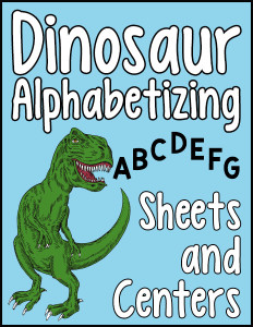 Dinosaur Alphabetizing Sheets and Centers 600h
