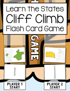 Learn the States Cliff Climb Flash Card Game 600h