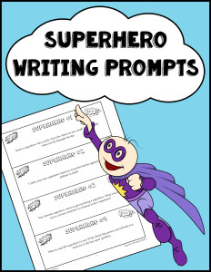 Superhero Writing Prompts 600h