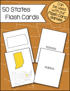 50 States Flash Cards 600h