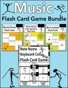 Music Flash Card Game Bundle