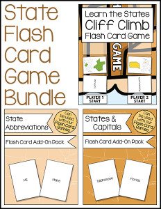 State Flash Card Game Bundle 600h