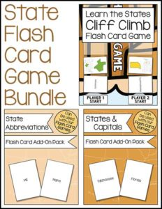 State Flash Card Game Bundle