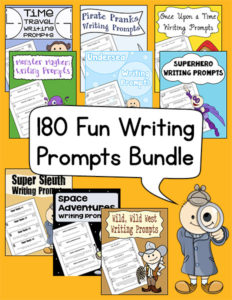 180 Fun Writing Prompts Bundle 600h