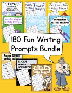 180 Fun Writing Prompts Bundle