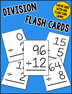 Division Flash Cards cover 600h