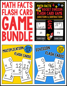 Math Facts Flash Card Game Bundle 600h