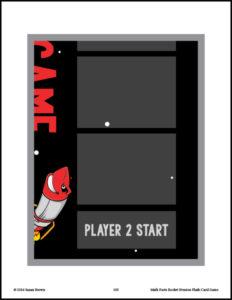 Math Facts Rocket Evasion Flash Card Game Multiplication Division image 4