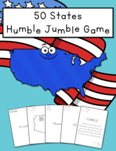 50 States Humble Jumble Game