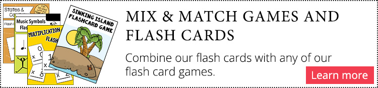 Flash card games and flash cards