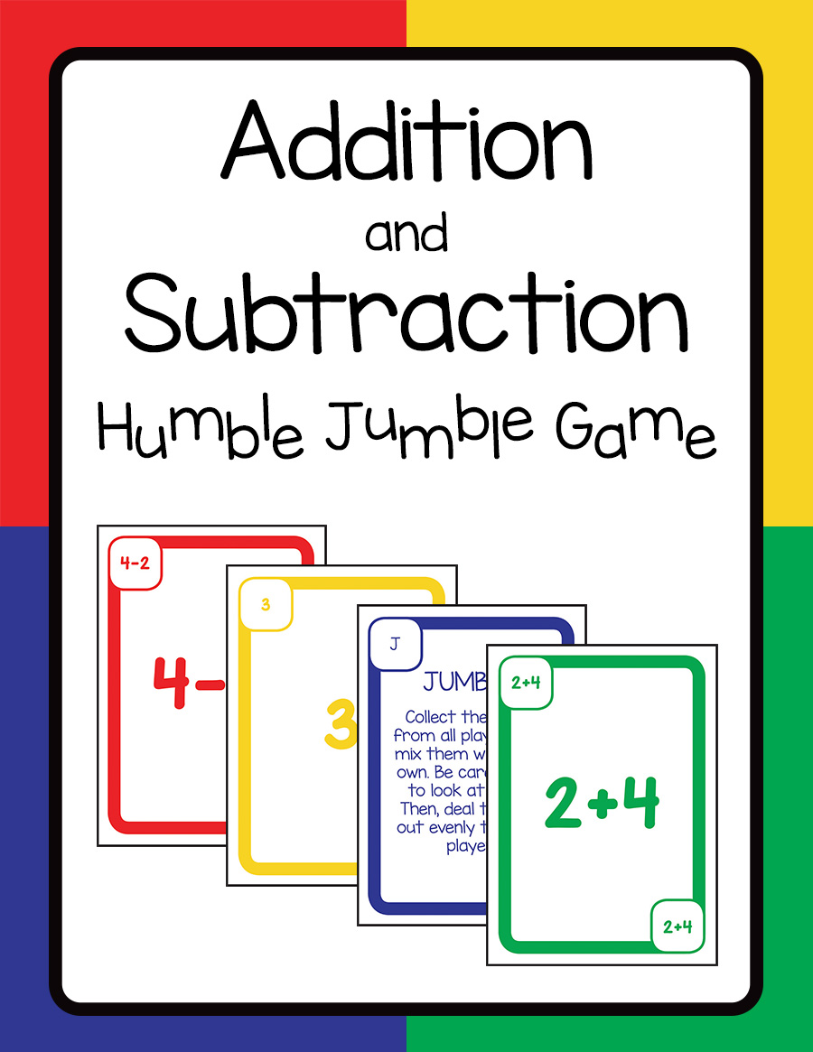 Addition and Subtraction Humble Jumble Game