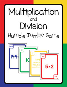 Multiplication and Division Humble Jumble Game