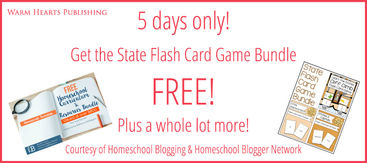 5 days only get the state flash card game bundle free