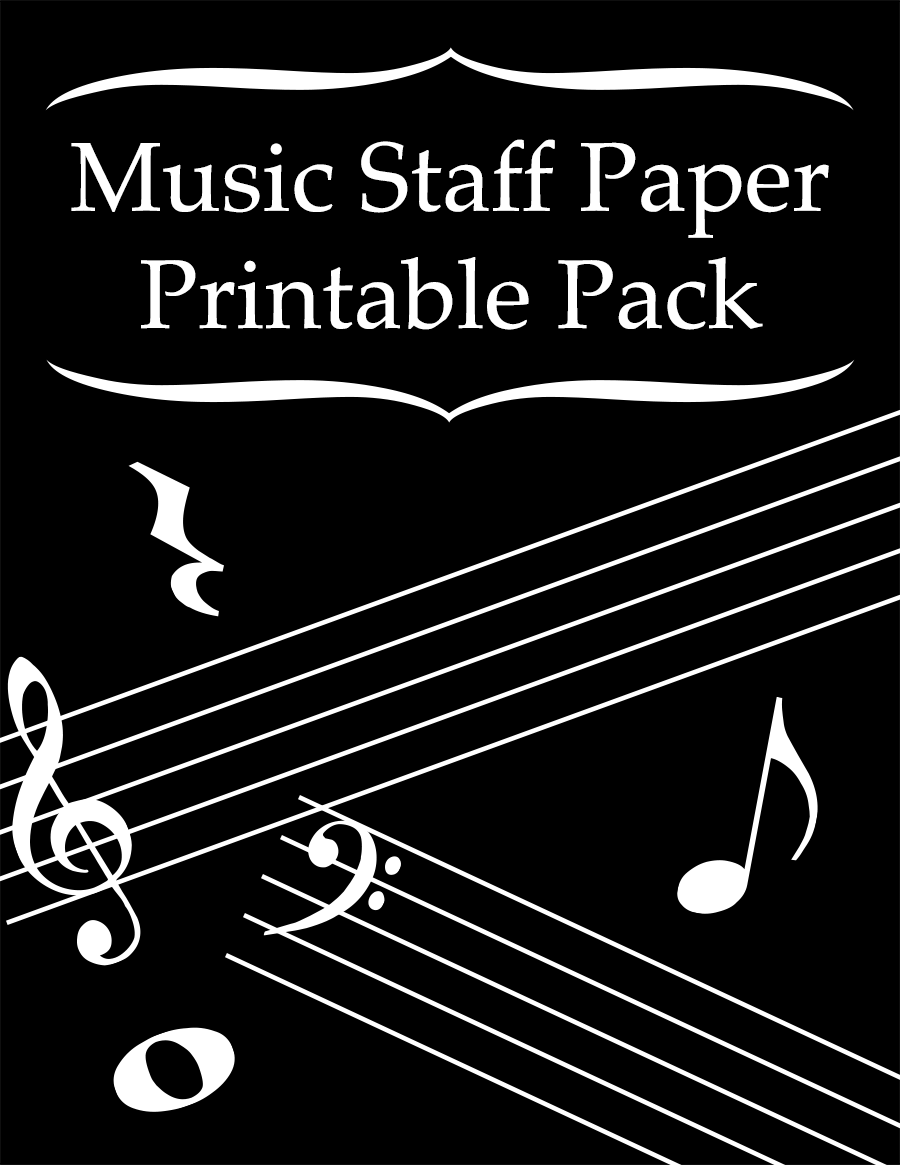 Music Staff Paper Printable Pack cover